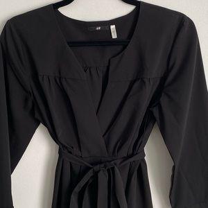 Black three quarter sleeved dress